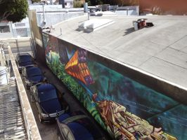 My Studio ~ View From Balcony ~ Street Art by Mark-D-Powers
