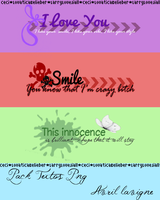 Pack textos png Avril Lavigne by LarryLoveJiall
