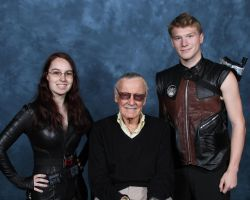 Two Shield Agents and Stan Lee by Ram3nLuvr666