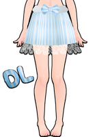mmd blue striped skirt by Tehrainbowllama