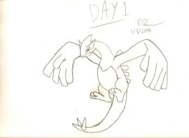 Day 1: Lugia Lineart by Ezekeil42