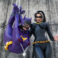 Batgirl hanging wit friend by Syncro01