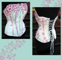 Floral overbust by Saltlake-tightlacer