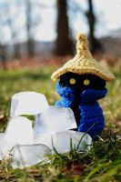 Crochet Black Mage Plushie by hookedonchibis