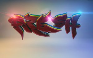 Fresh Cinema 4D Graffiti Wallpaper Preview by ryanr08