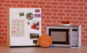 1/12th scale 'working' Mini Fridge and Microwave by ElreniaGreenleaf