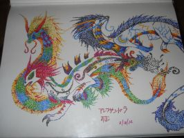 Japanese Dragon characters by sonicxamylover