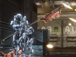 Halo 4: The mighty mighty Spartans by purpledragon104