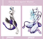 Mewtwo: Before and After by Cradlesin