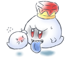 King Boo and boo by MarioBros041210