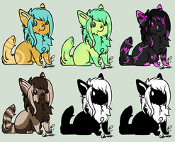 Chibi Doggies Set 4 by Muffin-Adopts
