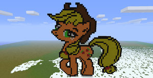 Minecraft- Applejack by aprilgoddess