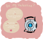 Wheatley: be my valentine by K3R0