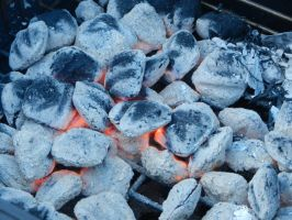 Hot Charcoal by dknucklesstock