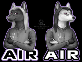 Air Reversable Badge by CanineHybrid