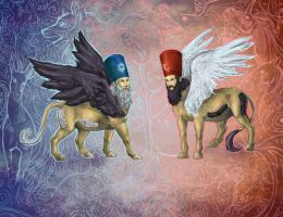 Lamassu:Sanity and Insanity by IPPO-Lita