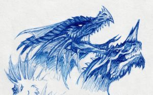 20 min. Dragon Doodles by ChristopherRobinArtz