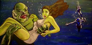 Creature from the Black Lagoon by asamamoru