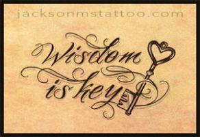 wisdom is key by jacksonmstattoo
