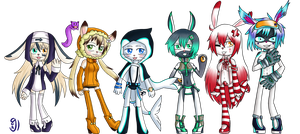 Com: 6Chibis by glorypaintGR