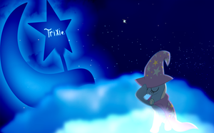 My first wallpaper of Trixie. by Flutterflyraptor