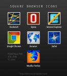 Square Browser Icons by BenSow