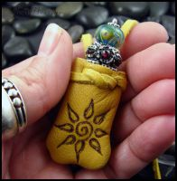 Medicine Bag - Crystal Keeper - Sun Soul by andromeda