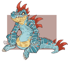 DanskatDesign Custom Feraligatr Design by Unstadoptables