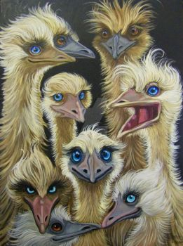 Wild and Wacky Emus by HouseofChabrier