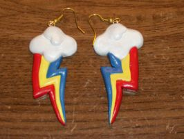 Rainbow Dash Cutie Mark Earrings by MadPonyScientist
