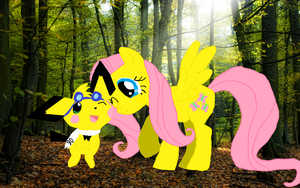 Sparks and Fluttershy by pikachuandpichu106