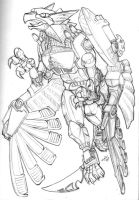 Transmetal Griffon Transformer by Heatherbeast