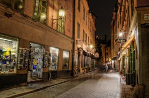 Old Town by Night IV by HenrikSundholm