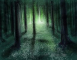 Speed Painting Studies- Open Forest Space 03/28/12 by DemonicMasterpiece