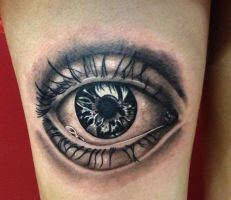Eye Tattoo by DaneTattoo