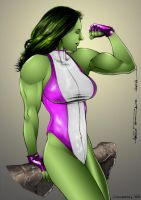 She-Hulk by Alex Miranda by richmbailey