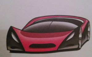 Super car (red and black) by Armychannel