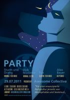 Batman and Robin Party Poster by Momentanaufnahme