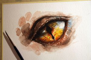 Smaug's eye( original for sale) by ALEXAst