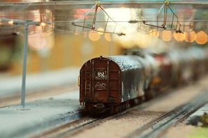 Bokeh train by Malleni-Art