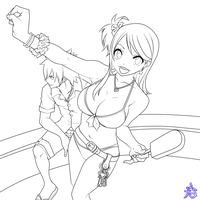 Lucy and Gray -Let's go !- by Na-tsu-na27