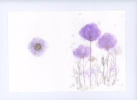 Card design - lavender poppies by daydreamerre