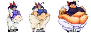 Hotaru Over the Years by Yer-Keij-fer-Cash