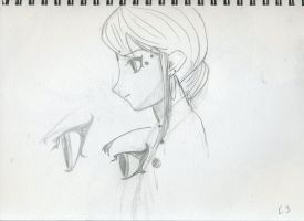Sakura Profile Drawing 1 by LifesFitfulFever