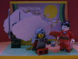 A full-moon night of LEGO world by MeoMoc