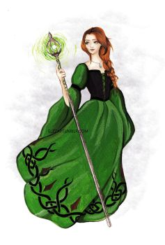 Green Witch by Elzza