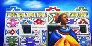 African lady 9 -Ndebele by SamanthaJordaan