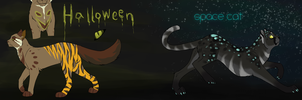 Halloween and Space Cat by Staniqs