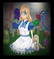 Alice ~April showers bring May Mushrooms by lunedragonfly