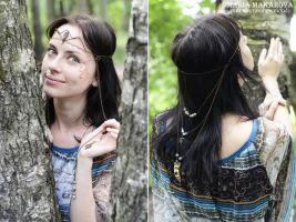 Circlet 'Keeper of the northern forest spring' by Madormidera
